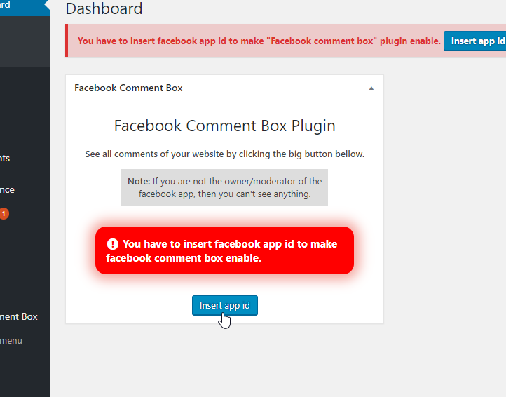 Adding Facebook comments box on wordpress