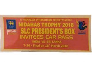 Nidahas Trophy 2018 Pass