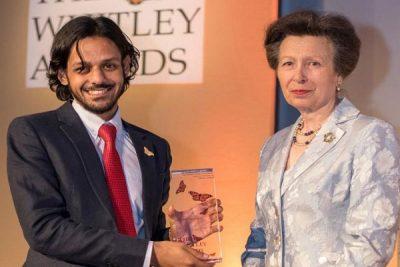 Shahriar Caesar Rahman Receiving the award