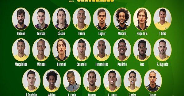 Brazil Team for Fifa 2018
