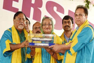 Sheikh Hasina with DLitt