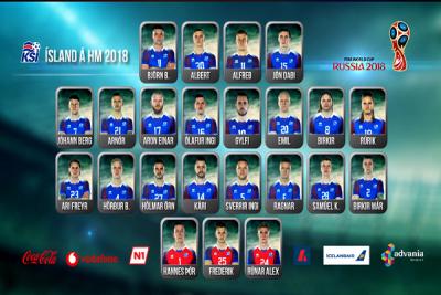 Iceland name 23-man squad