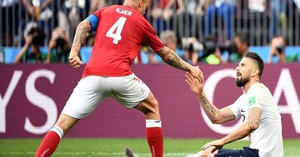 France and Denmark FIFA World Cup 2018