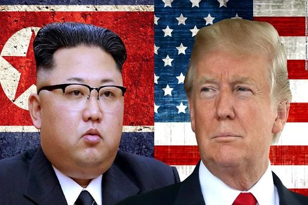 Trumph and Kim jong un