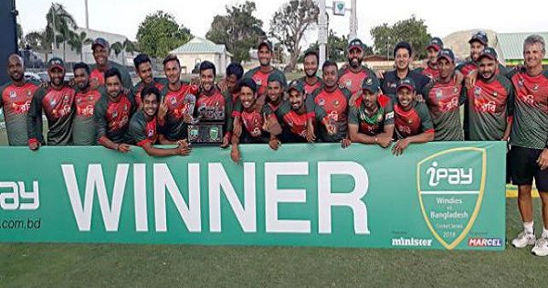 Bangladesh beat West Indies and won ipay ODI Series