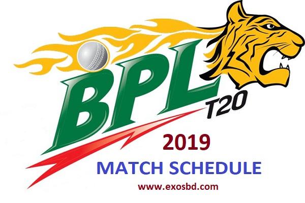 Bangladesh Premier League Season six full schedule 2019
