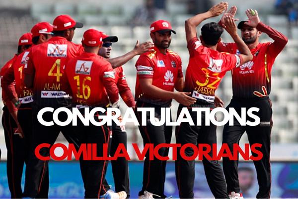Comilla Victorians won the BPL Season six by 17 runs
