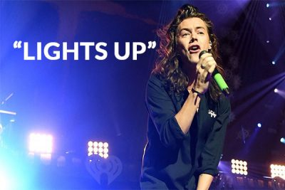 "Harry Styles One Direction singer has released ""Lights Up"""