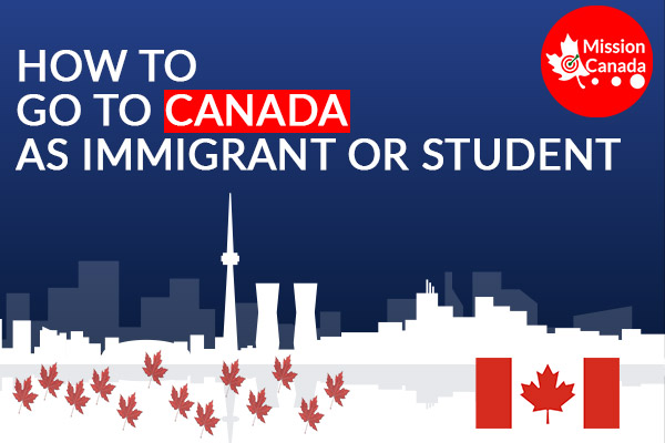 How to go to CANADA as Immigrant or student?